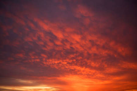 Dramatic and colorful sunset