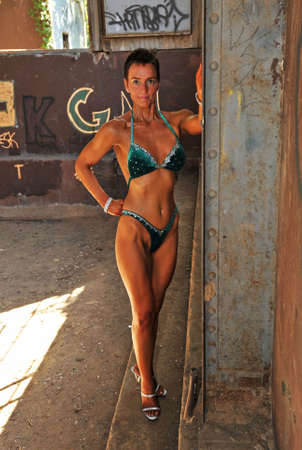 Muscular and fit young woman. photo