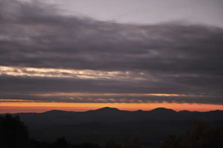 Dark Virginia Sunset in the Mountains.