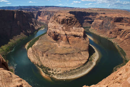 Horseshoe Bend in Page Arizona. Stock Photo