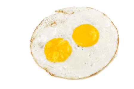 Fried eggs isolated on white background  photo
