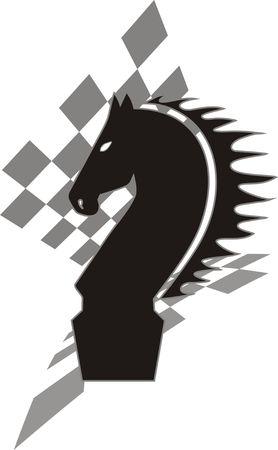 black chess knight