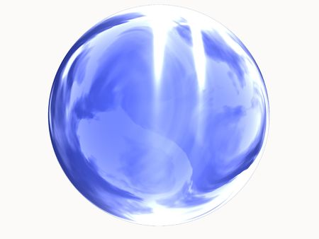 a blue glass sphere with reflections Stock Photo - 5375520