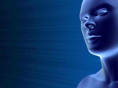 close up of artificial woman face Stock Photo - 5375516