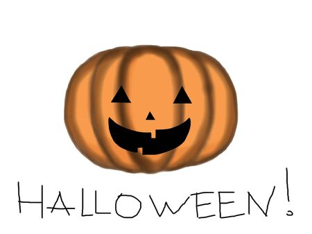 a funny cartoon orange pumpkin of Halloween Stock Photo - 5679574