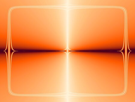 Orange frame texture with abstract shining star Stock Photo