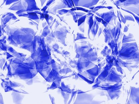 3d generated blue crystal background