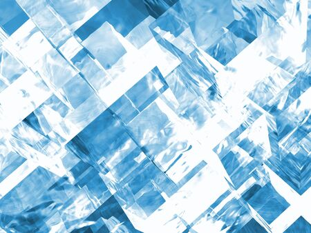 close up of 3d generated cubic ice crystals background