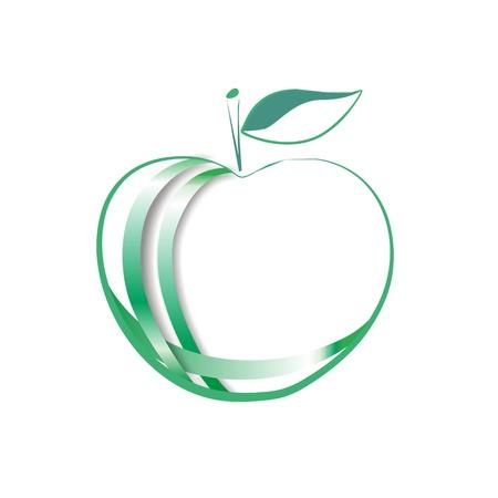 Creative logo green apple Stock Photo
