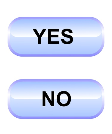 oblong: Yes-no buttons Stock Photo