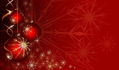 Red Christmas background Stock Photo - 8323094
