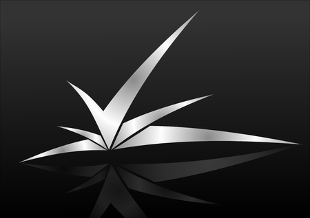 Abstract silver icon