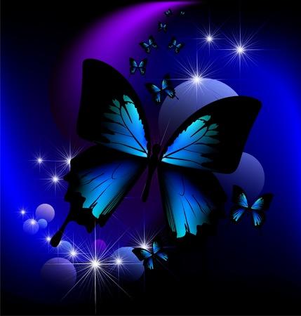 mariposa azul: mariposa mágica
