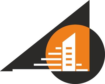 logotipo de construccion: ciudad