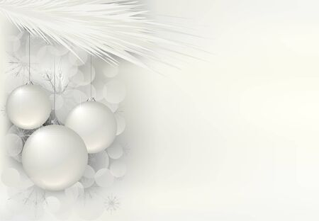 christmas baubles of modern design: magic christmas background