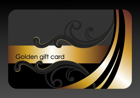 golden gift card Stock Photo - 11013288