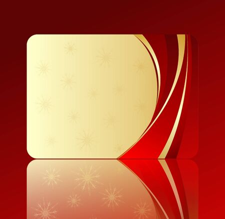 holiday gift card Stock Photo