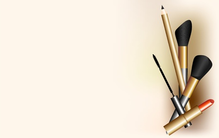 ceremonial makeup: set of tools for make-up Stock Photo