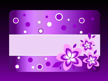 service card: violet gift card