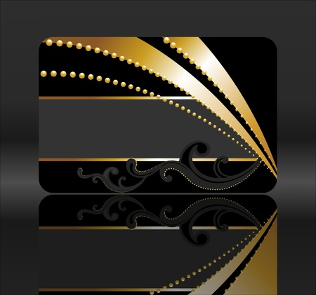 black and golden gift card Stock Photo