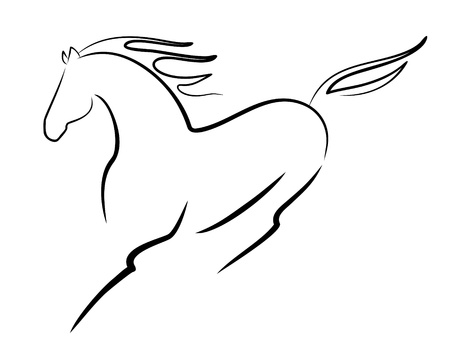 chevaux noir: beau cheval