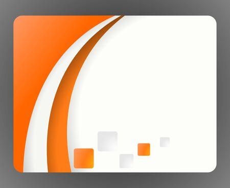 teared: orange bisness card