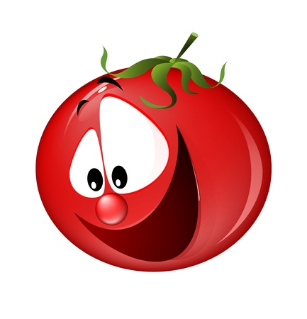 vegetable cook: funny tomato