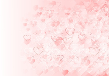 abstract romantic pattern with hearts photo