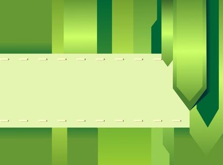 green creative card Stock Photo