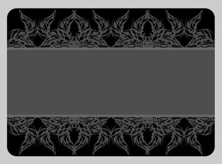beautiful black card Stock Photo - 11507073