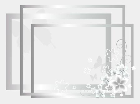 silver wedding background photo