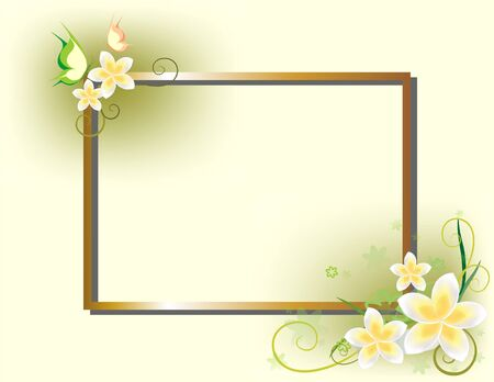 romantic background with frame photo