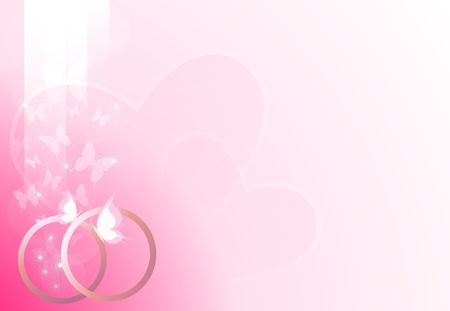 pink wedding background Stock Photo