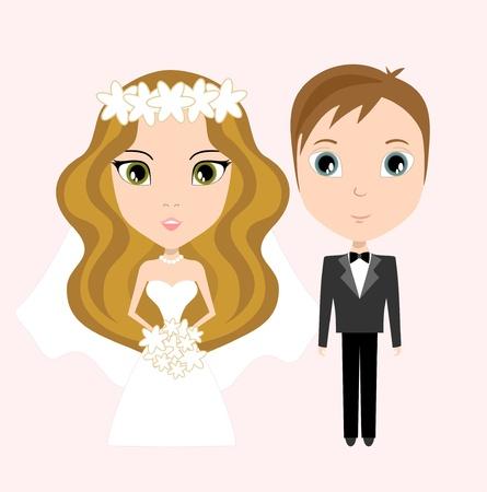 to wed: la sposa e lo sposo Archivio Fotografico