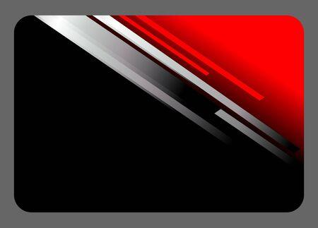 elegant black and red card