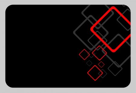 black geometric card