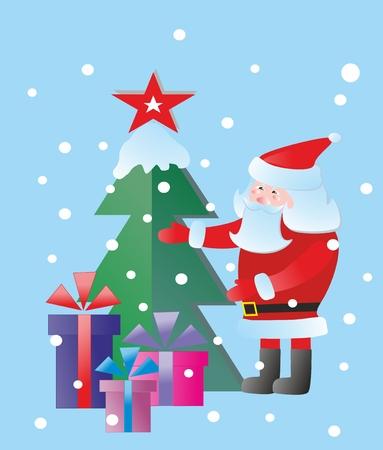 prepare: Busy Santa prepare presents