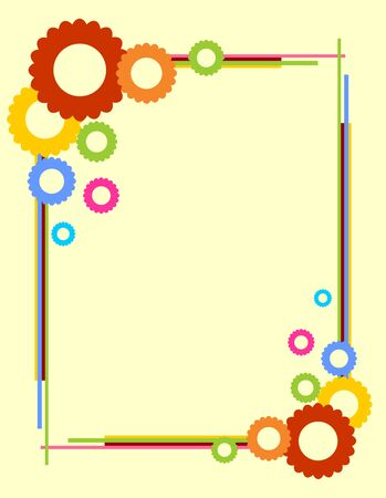colorful frame: colorful summer frame with place for text