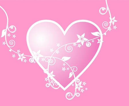 romantic: romantic pink heart background