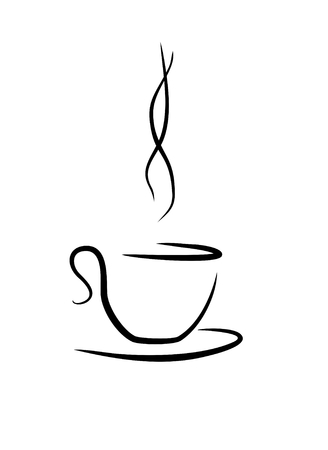 aromatic: art tea(coffee) cup with touch of aromatic smoke Stock Photo