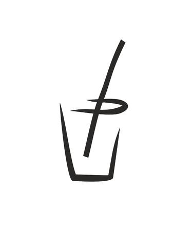 summer drink: sketch of cold summer drink