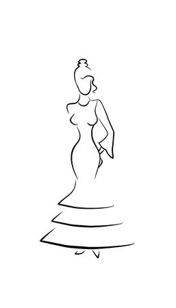 bailarina de flamenco: bailarina de flamenco de la mujer