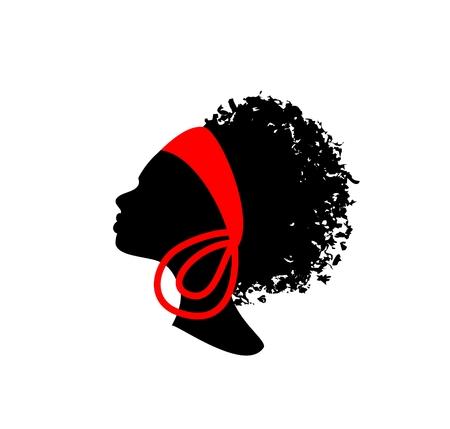 젊은 아름 다운 아프리카 여자의 머리 스톡 콘텐츠