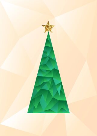 Modern abstract christmas tree Stock Photo