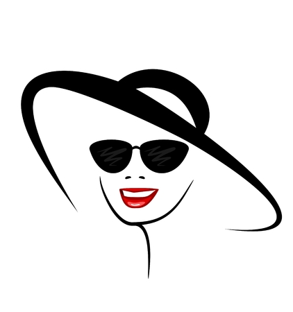 smiling woman in stylish sunglasses