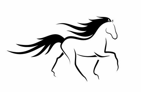 elegantes tanzendes Pferd