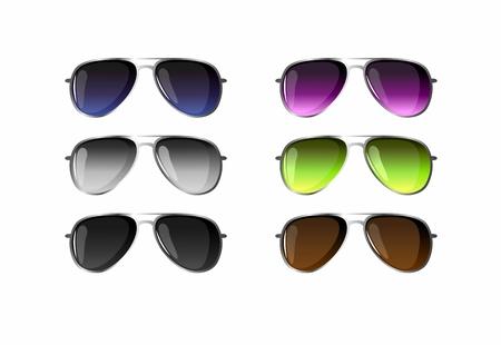set of six sunglasses