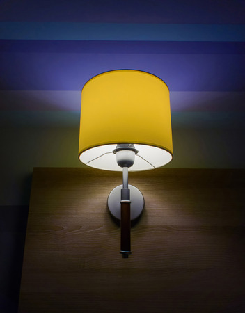 wall sconce: Lamp with yellow
