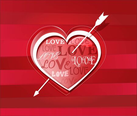 struck: Heart struck by Cupid\\\\\\\\ Illustration