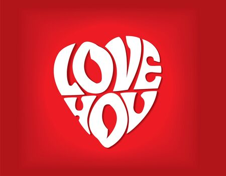 declaration: Declaration of love in the form of heart. Vector illustration